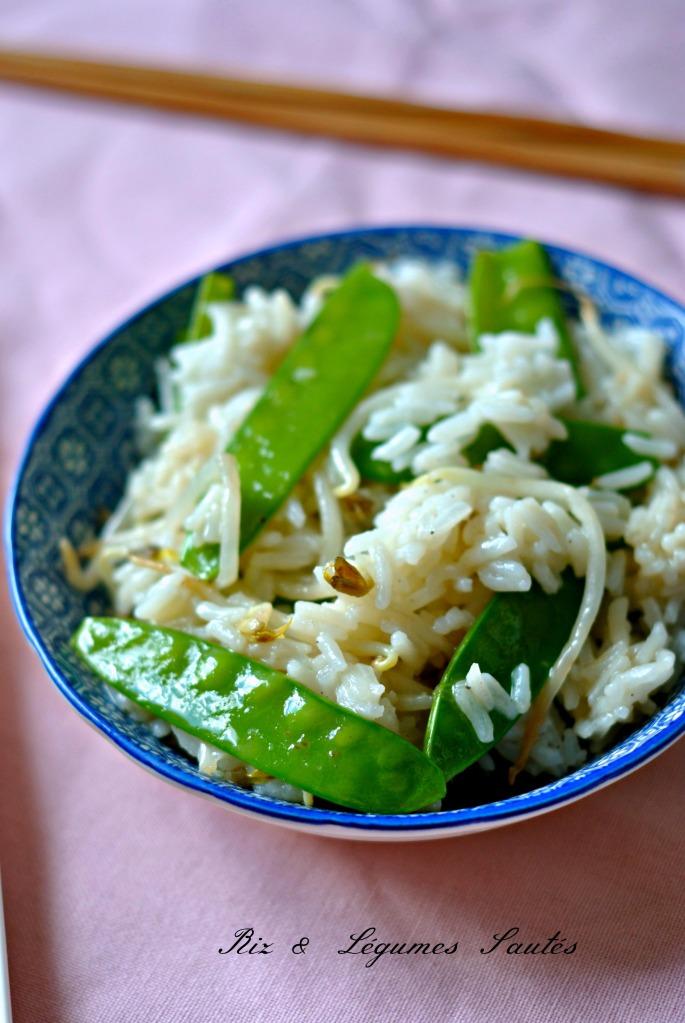 riz et légumes sautés