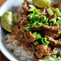 Boeuf Thaï Sauce Huître,Gingembre et Citron Vert,เนื้อผัดน้ำมันหอย (enfin à peu près quoi...)
