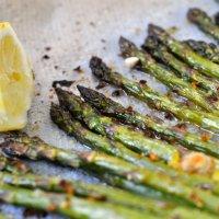 Asperges Rôties au Four,Citron & Parmesan