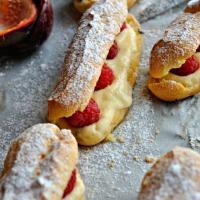 Eclairs (pâte à chou Michalak),Passion &Framboises