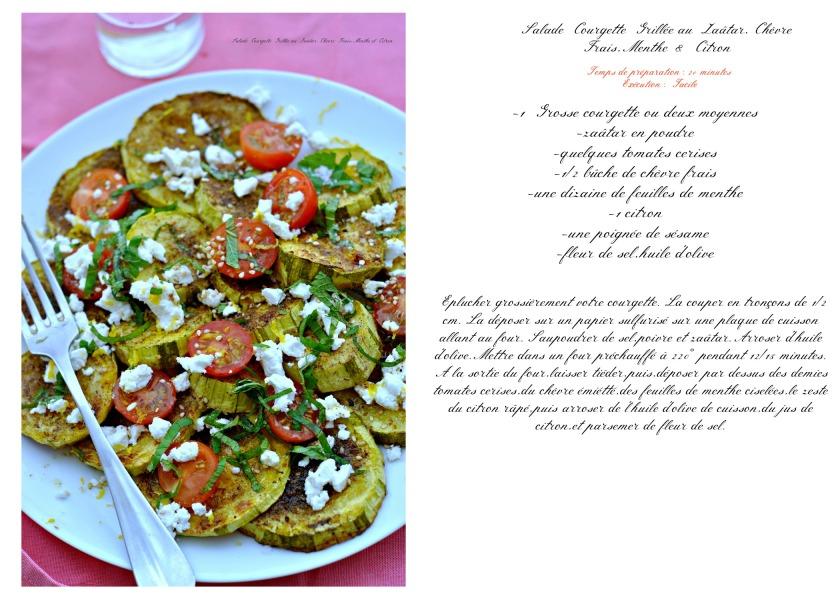 salade courgette grillée