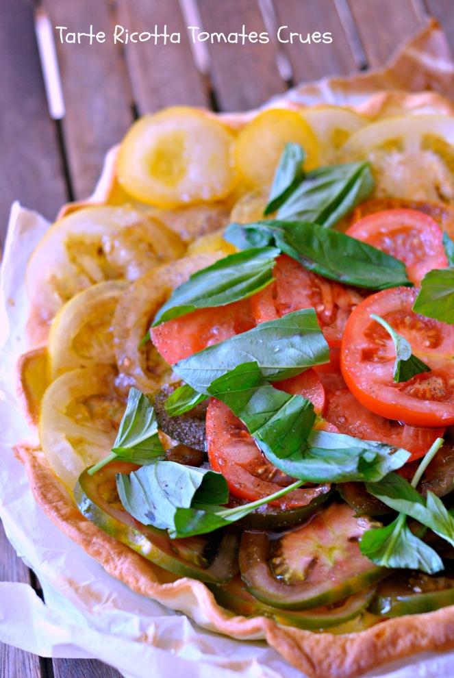Tarte Ricotta Tomates Crues