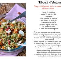 Taboulé d'Automne,Boulghour,Courge,Grenade & Noisettes