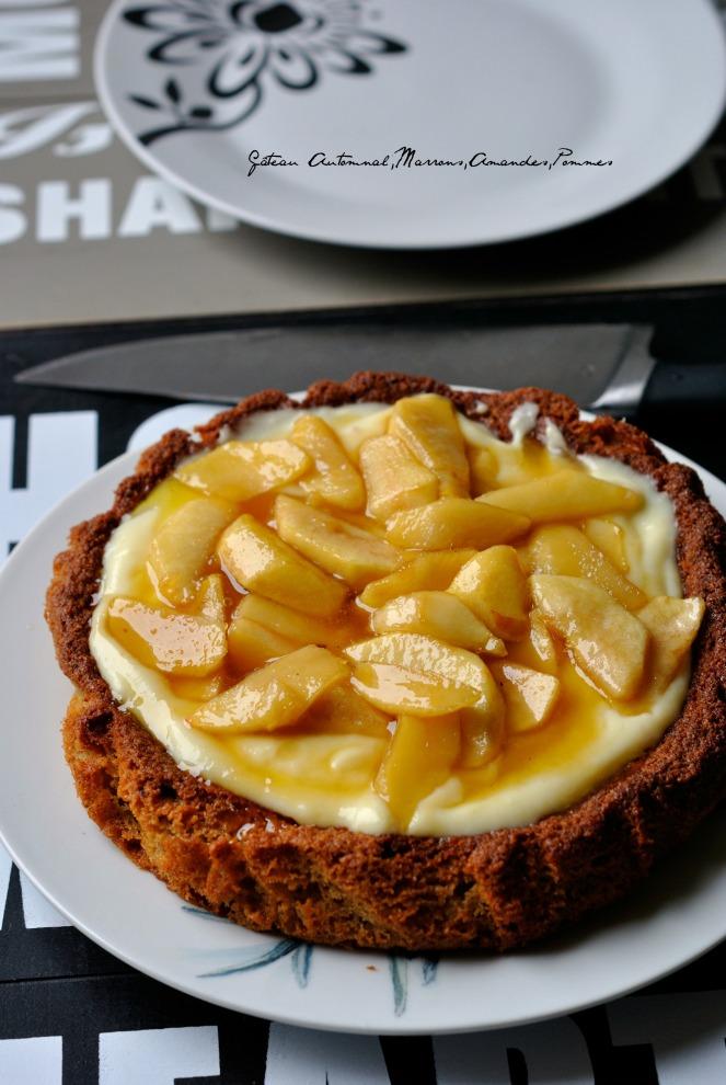 Gâteau Automnal Marrons,Amandes,Pommes 1