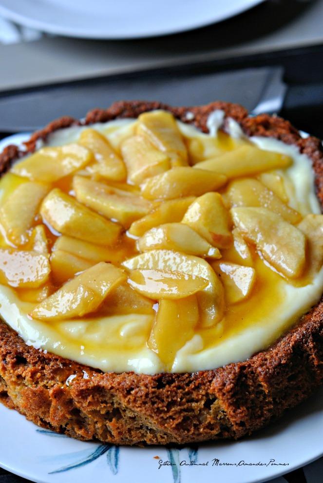 Gâteau Automnal Marrons,Amandes,Pommes 2