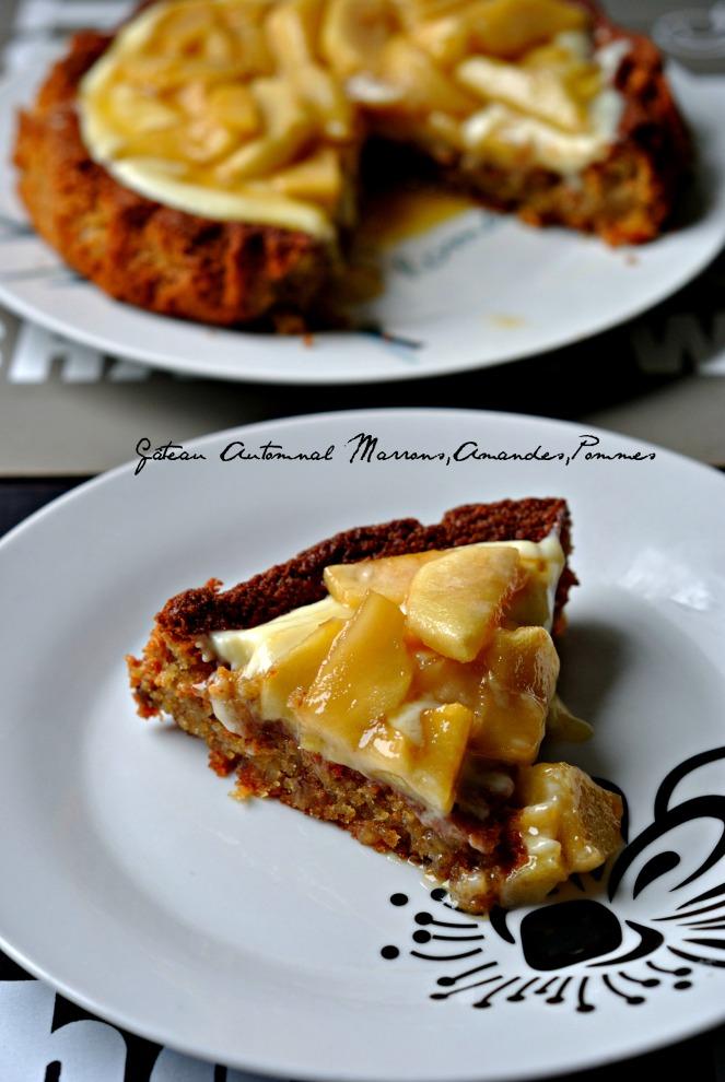 Gâteau Automnal Marrons,Amandes,Pommes 3