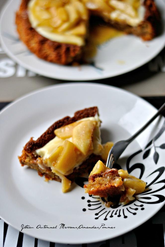 Gâteau Automnal Marrons,Amandes,Pommes 4