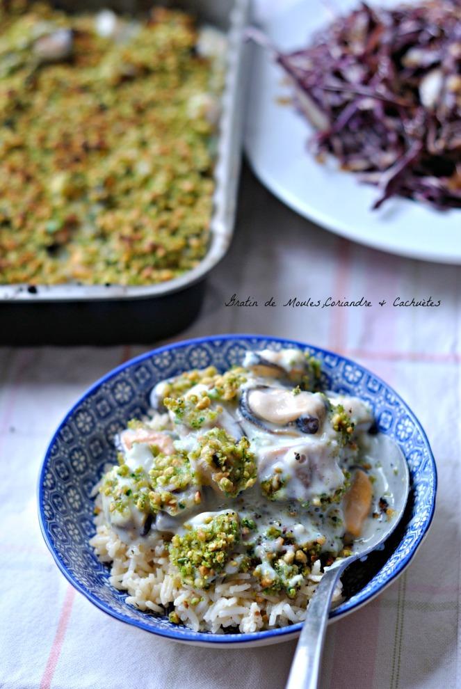 Gratin de Moules,Coriandre & Cacahuètes 2