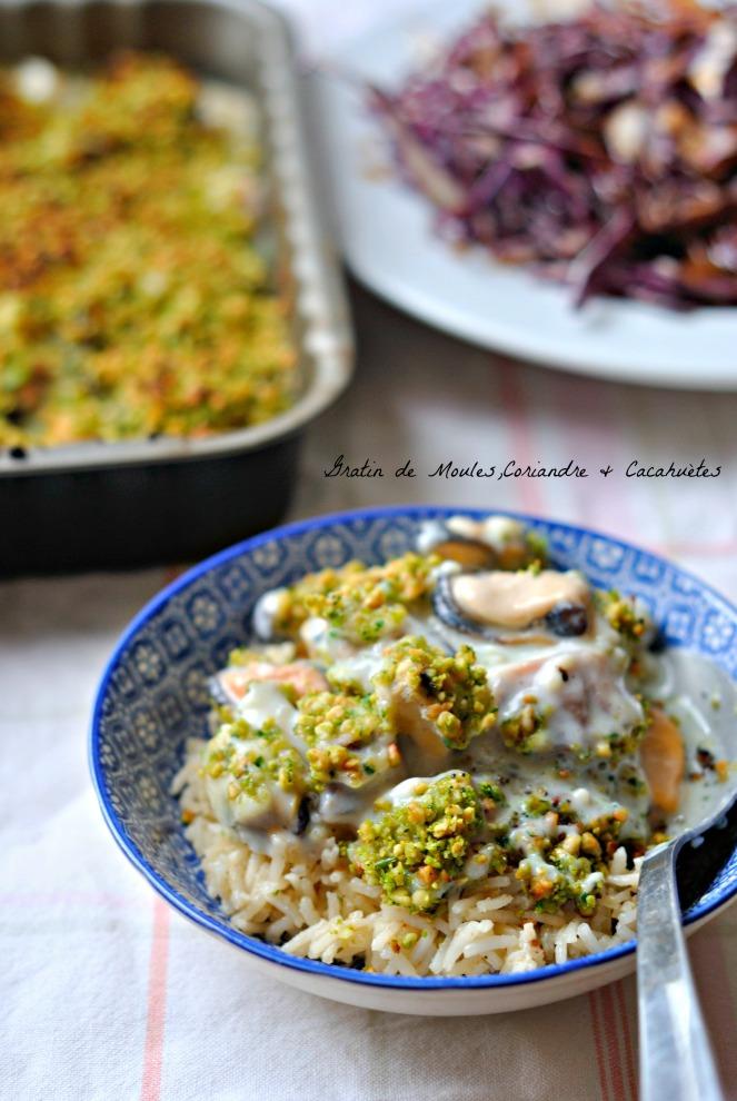 Gratin de Moules,Coriandre & Cacahuètes 3