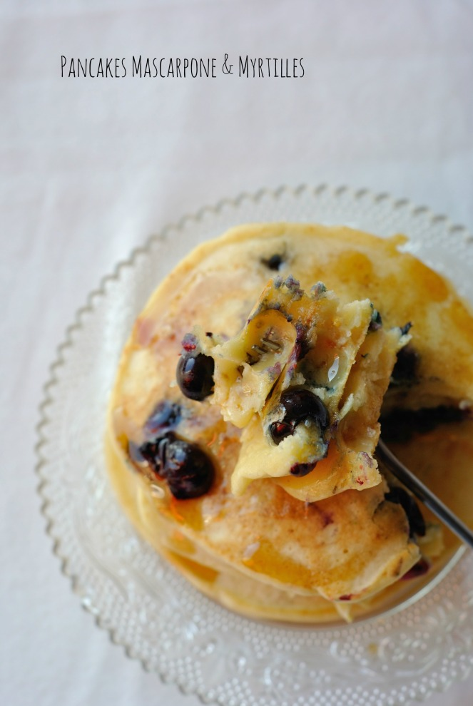 Pancakes Mascarpone & Myrtilles 3