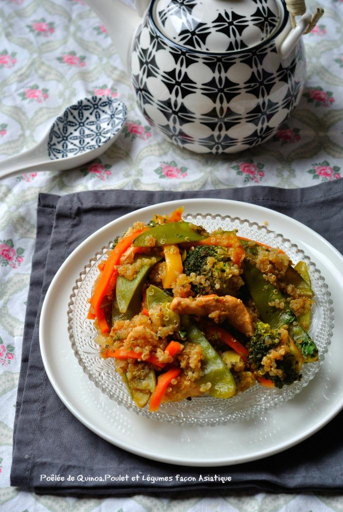 Poêlée de Quinoa,Poulet,et Légumes façon Asiatique 1