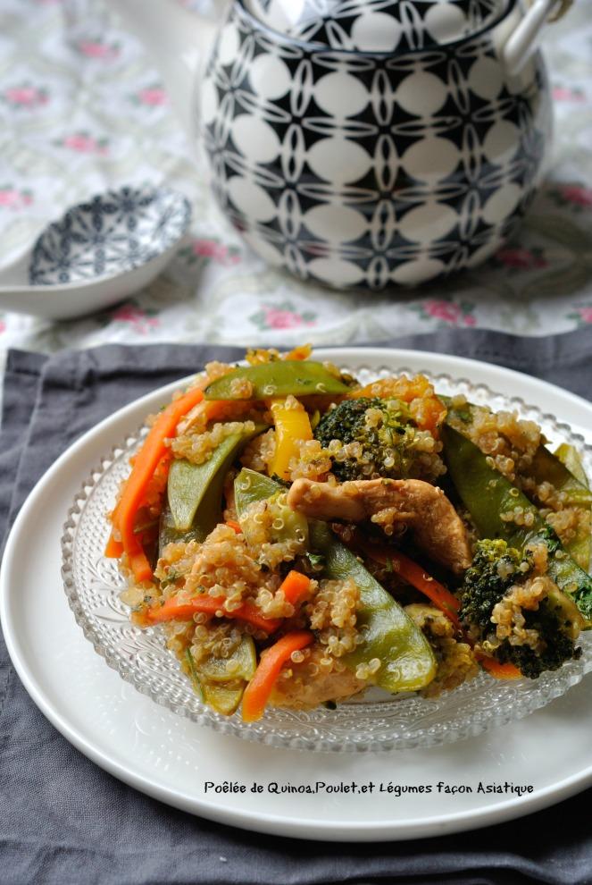 Poêlée de Quinoa,Poulet,et Légumes façon Asiatique 2