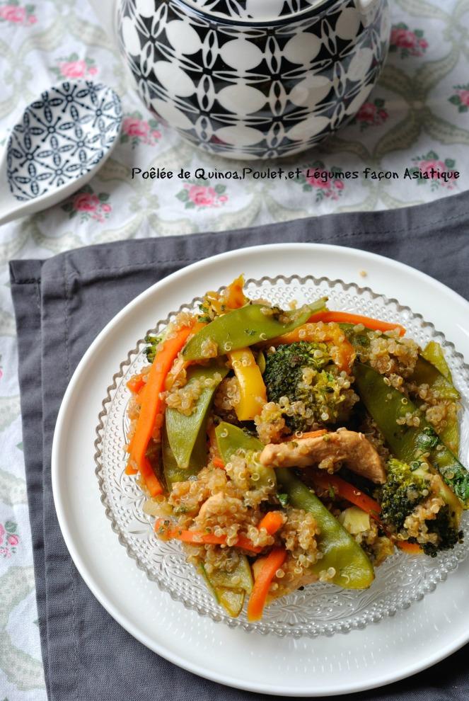 Poêlée de Quinoa,Poulet,et Légumes façon Asiatique 3