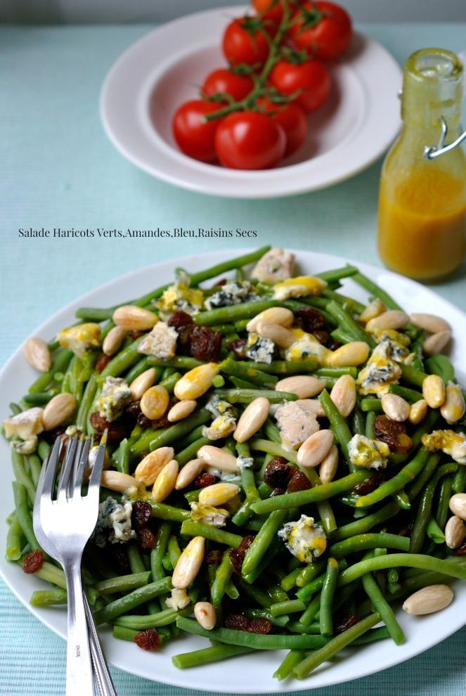 Salade Haricots Verts,Amandes,Bleu,Raisins Secs 1
