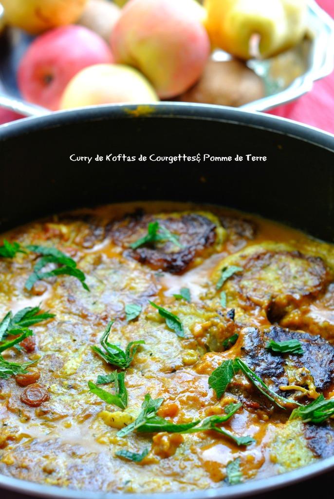 Curry de Koftas de Courgettes& Pomme de Terre 1