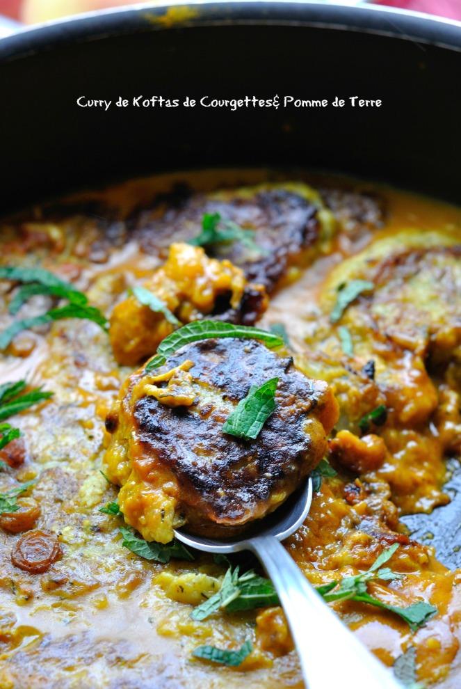 Curry de Koftas de Courgettes& Pomme de Terre 3
