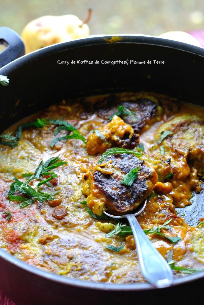 Curry de Koftas de Courgettes& Pomme de Terre 4