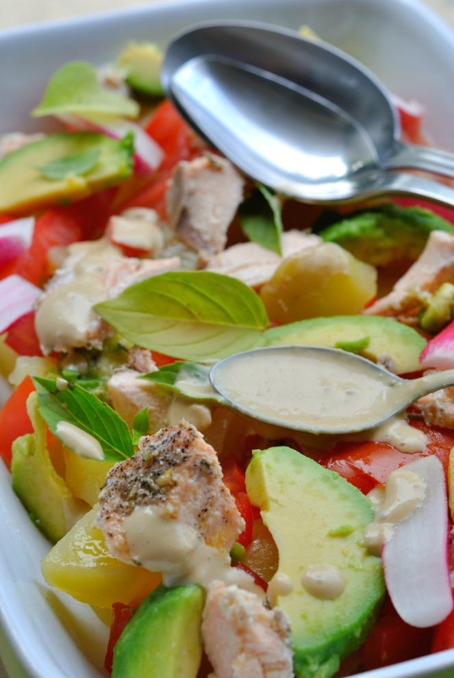 salade pdt saumon avocat 3