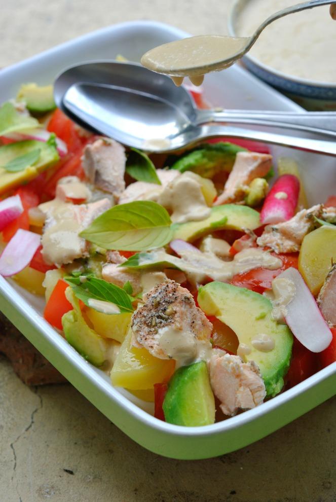 salade pdt saumon avocat 5