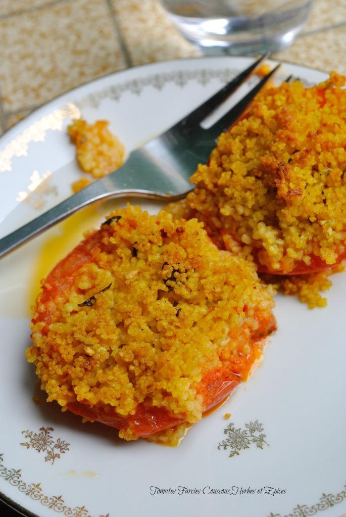 Tomates Farcies Couscous,Herbes et Epices 2