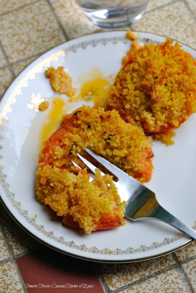Tomates Farcies Couscous,Herbes et Epices 3