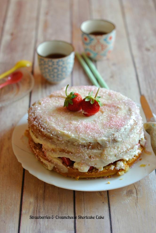 Strawberries & Creamcheese Shortcake Cake 1