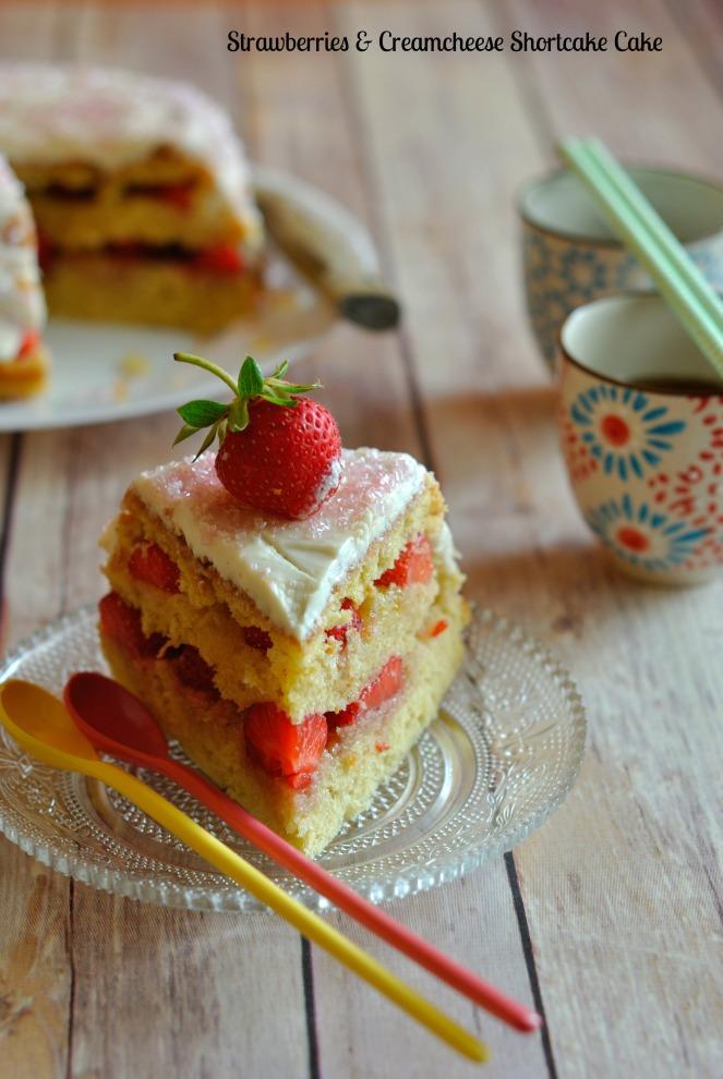Strawberries & Creamcheese Shortcake Cake 6