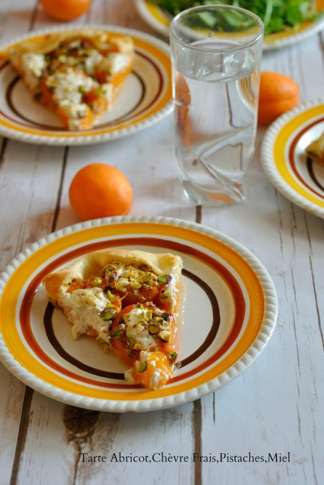 Tarte Abricot,Chèvre Frais,Pistaches,Miel 3