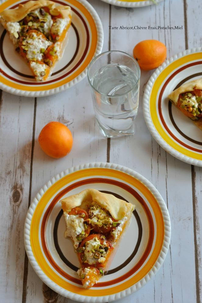 Tarte Abricot,Chèvre Frais,Pistaches,Miel 5