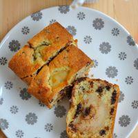 Cake Poires,Amande et Pépites de Chocolat