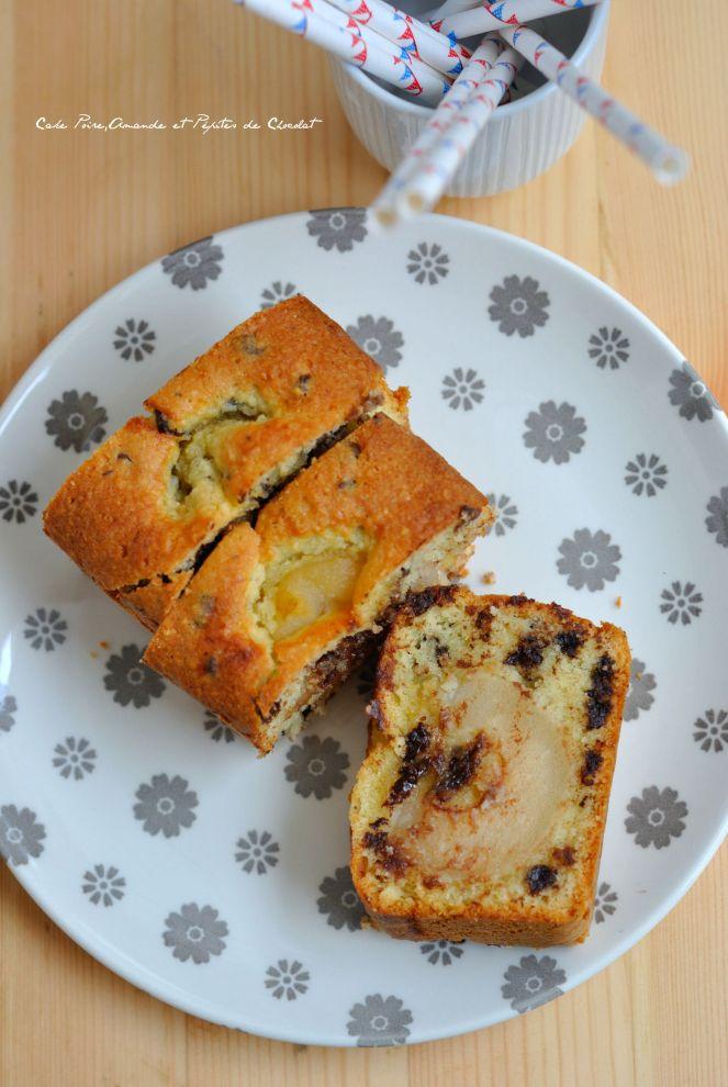 Cake Poire,Amande et Pépites de Chocolat 2