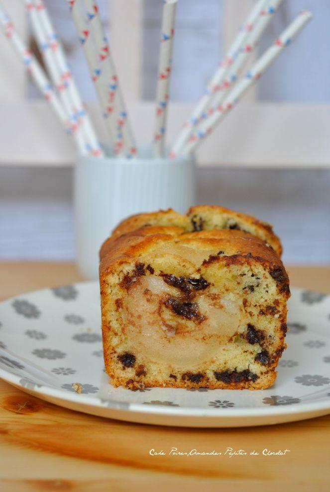 Cake Poires,Amande et Pépites de Chocolat 1
