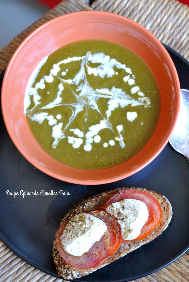 Soupe Epinards,Carottes,Pain...1