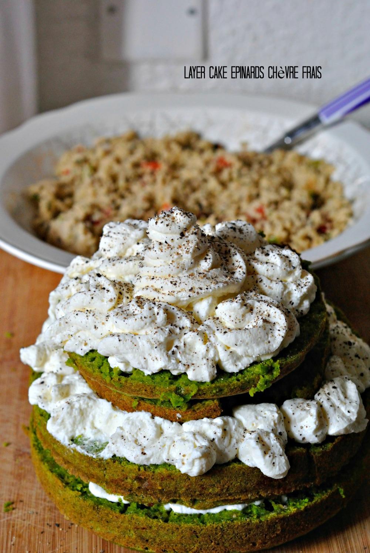 Layer Cake Epinards Chèvre Frais 1