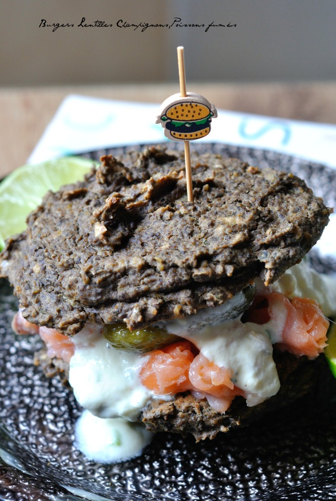 Burgers Lentilles Champignons,Poissons fumés 3