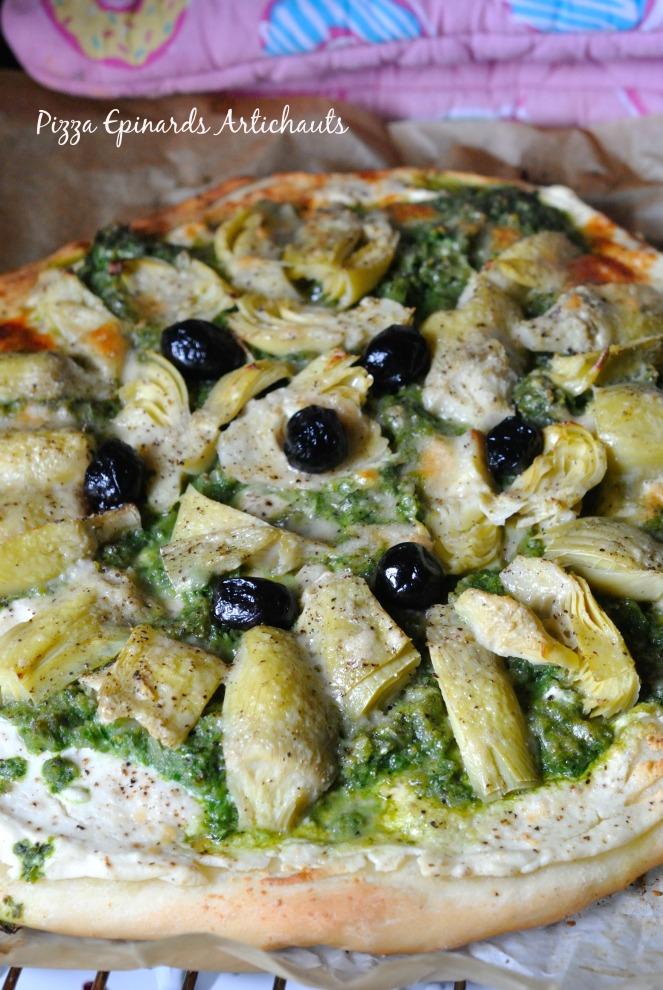 Pizza Epinards Artichauts 2