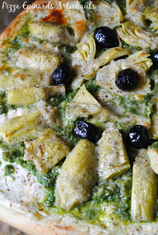 Pizza Epinards Artichauts 3