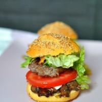 Mini-Burger Maison Buns Farine de maïs