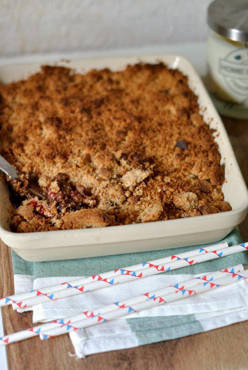 Crumble fruits rouges et chocolat 4