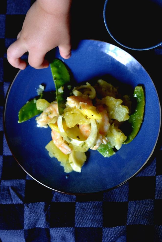 salade pdt fenouil mangue crevettes pois 1