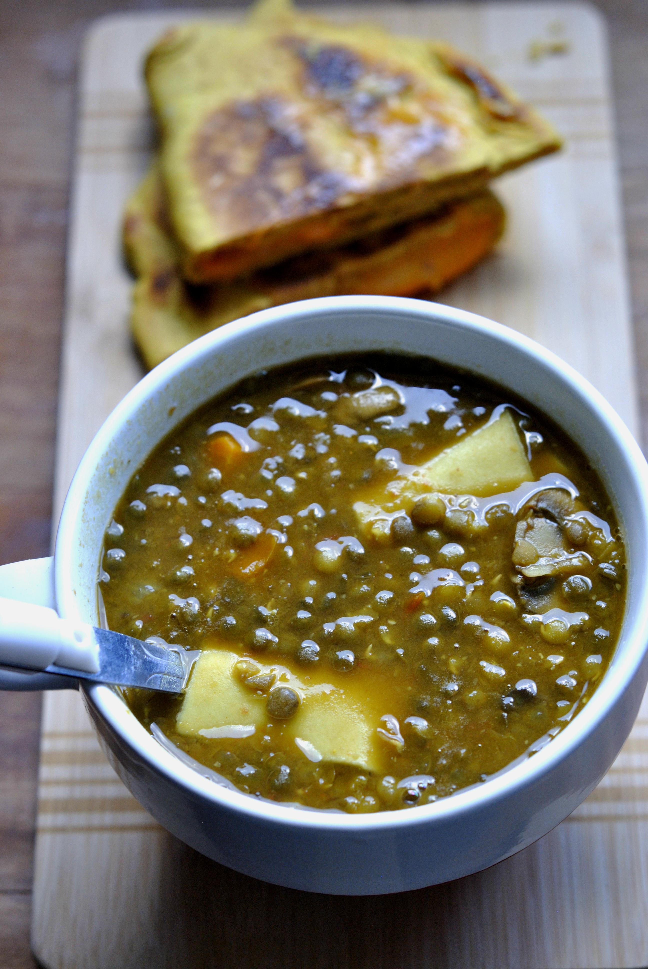 soupe lasagnes lentilles 1