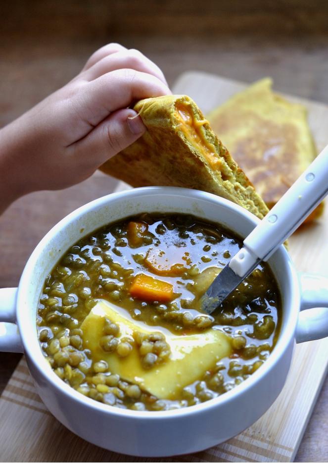 soupe lentilles et lasagnes 2