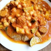 Curry végane aux Pois chiches et au Seitan